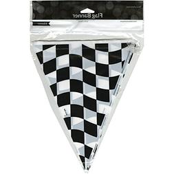 Creative Converting Flag Pendant, 10 by 12-Inch, Black and W