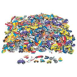 500 pc Foam TRANSPORTATION Self Adhesive Craft Shapes/CARS/B
