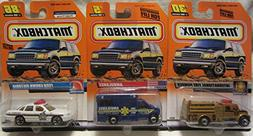 Matchbox Ford Crown Victoria Police #86, Ambulance #5 & Inte