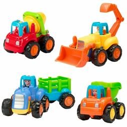 Friction Powered Cars, 4 Pcs Kids Toys for Kids Boys Girls T