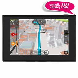 GPS Navigation for Car, ADiPROD 5 inches Lifetime Map Update
