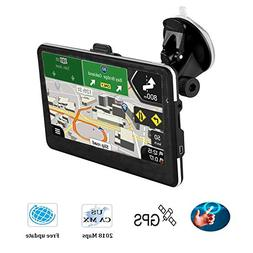 """Updated Car GPS,7.1"""" GPS Navigator with Lifetime-free Maps,8"""