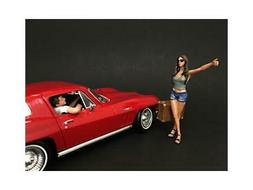Hitchhiker 2 Piece Figure Set for 1/18 Scale Model Cars by A