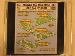 HO Scale Slot Car Track Layouts 123 Book V: Tomy / Auto Worl