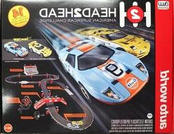 HO Slot Car Track - Auto World - Head to Head American Super