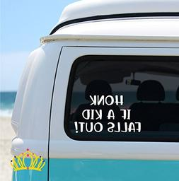 Honk If A Kid Falls Out, Funny Car Decal, Funny Mom Decal -