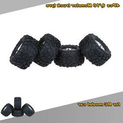 Hot 4X 1/10  Truck Tire Tyres for Traxxas HSP Tamiya RC Mode