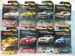 Hot Wheels Camaro Fifty 1967-2017 Exclusive Set 8 Cars Toy V