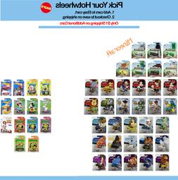 Hot Wheels Character Cars - You Pick, shipping on additional