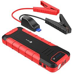 iClever 1300A Peak Portable Car Jump Starter , Auto Battery