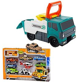 Bundle Includes 2 Items - Matchbox Power Launcher Garbage Tr