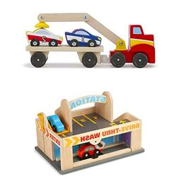 Bundle Includes 2 Items - Melissa & Doug Service Station Par