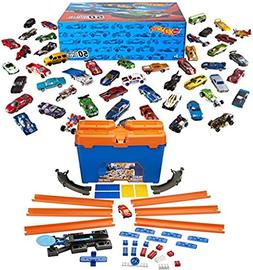 Bundle Includes 2 Items - Hot Wheels Basic Car 50-Pack  and