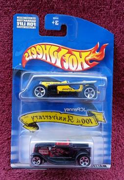 JC Penney 100th Anniversary Two Pack Race Car 2002 Hot Wheel