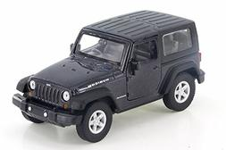 """Welly Jeep Wrangler Rubicon, Black 42371H-D - 4.5"""" Diecast M"""