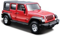 Jeep Wrangler Unlimited Rubicon 4 Doors Red 1/32 by BBurago