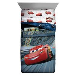 5 Piece Kids Blue Red Lightning McQueen Comforter Twin/Full
