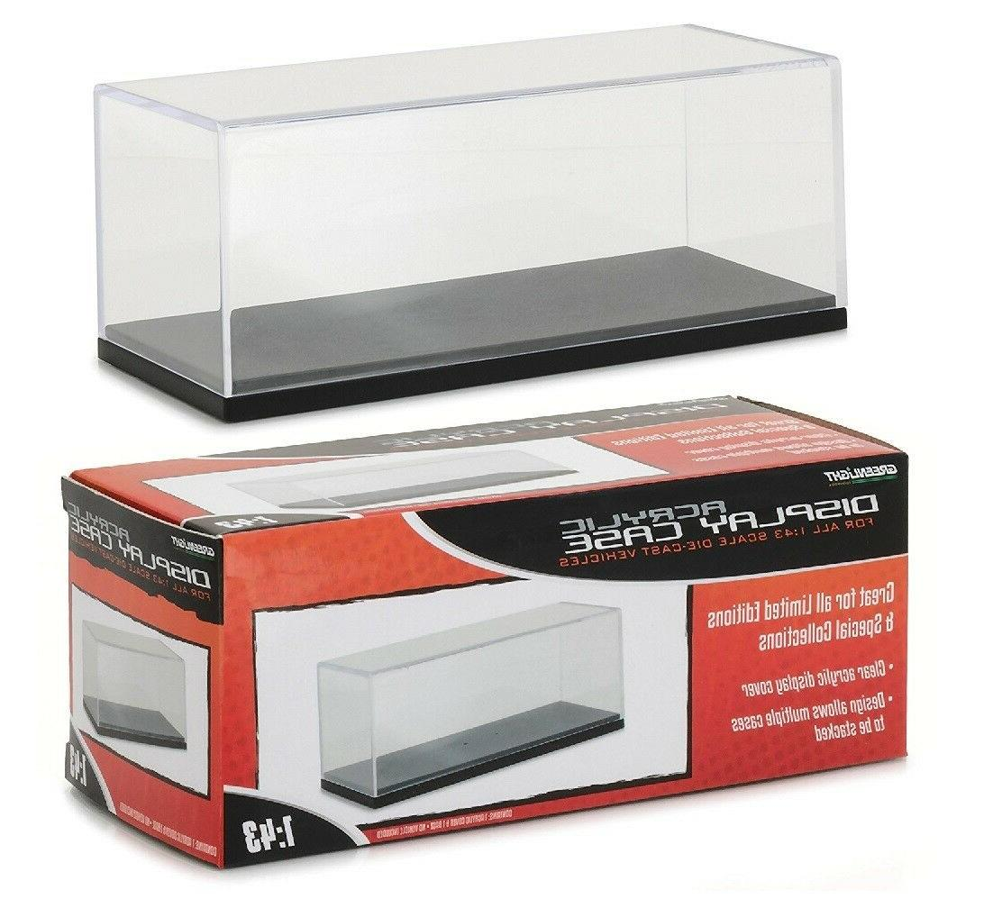 1 43 plastic display case with base