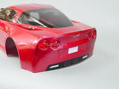 For RC BODY Shell CHEVY CORVETTE w/Light -CLEAR-