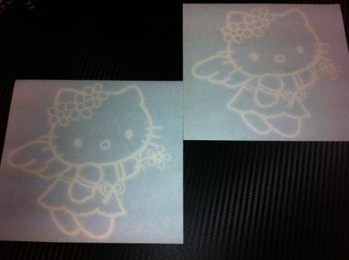 """1 Pair """"Hello Kitty Angel Style"""" Racing Car Decal Sticker  W"""
