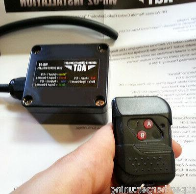 12V Wireless Remote Control Switch Transmitter Receiver for AUTO