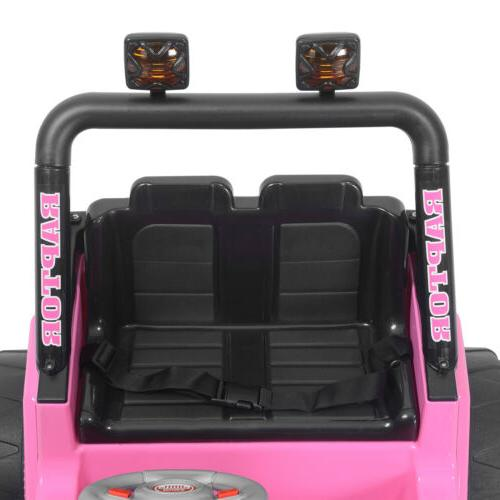 12V Car For W/Parent Control Battery Pink
