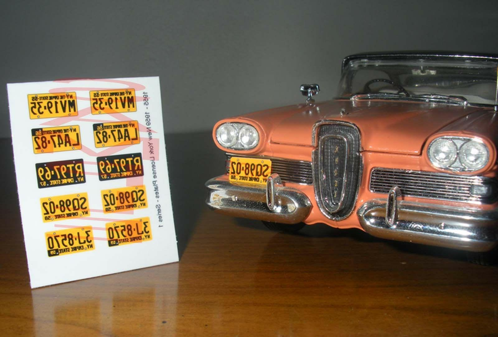 1955 1959 new york miniature license plates for 1 25 scale