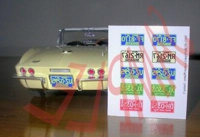 miniature LICENSE PLATES for 1/25