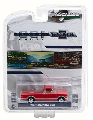 Greenlight 100th Truck, Red - 1/64 Scale Diecast Model Toy Car