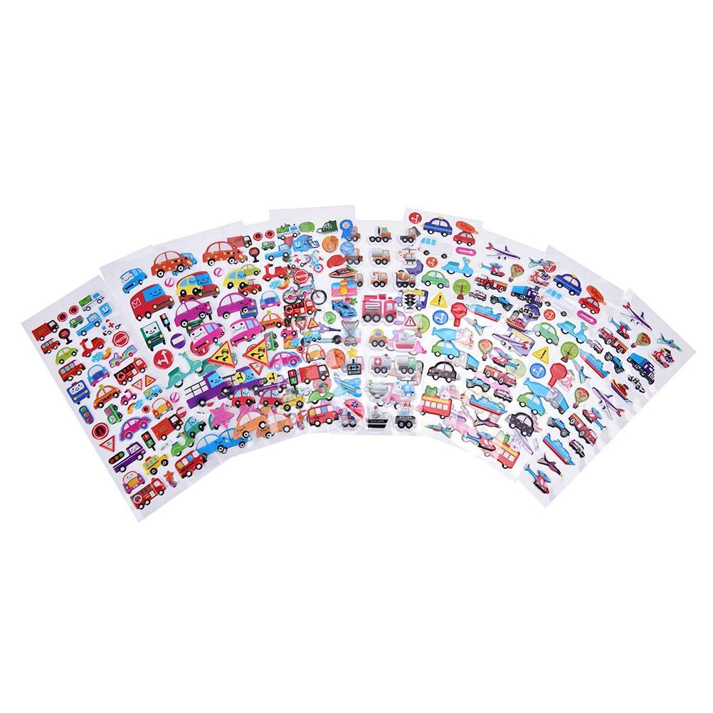 2PCS / lot <font><b>Cars</b></font> Cartoon Mixed Cartoon Bubble Stickers Decoration Christmas Gift