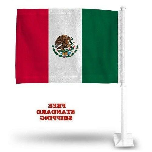 """2X MEXICO Cup Soccer Car Flag FLAGS FOR 18"""" X"""
