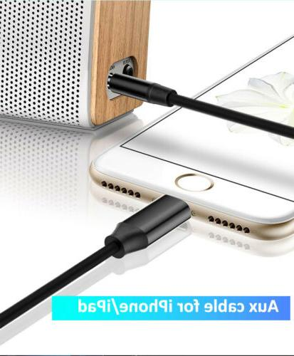 3.5mm AUX Car Jack For iPhone 8+ X XR to Lightning