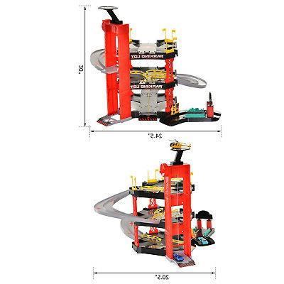 3-Level Racetrack for Toddler Car Helicopter