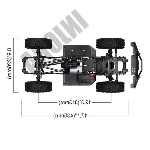 313mm WB RC Car Frame with wheel 1/10 Axial SCX10