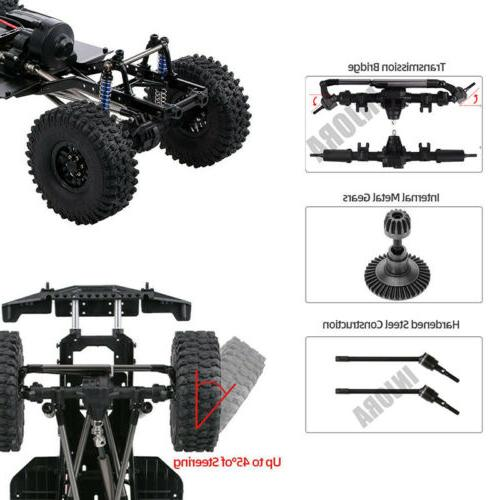 313mm WB RC Car Frame Chassis with wheel 1/10 SCX10 II