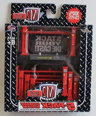 M2 Auto-Lift 5 Packs - stackable storage system for most 1/6