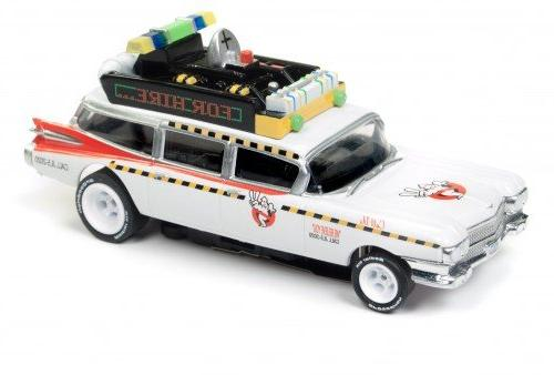 Auto Ecto 1a Cadillac Ambulance HO Scale Slot Car