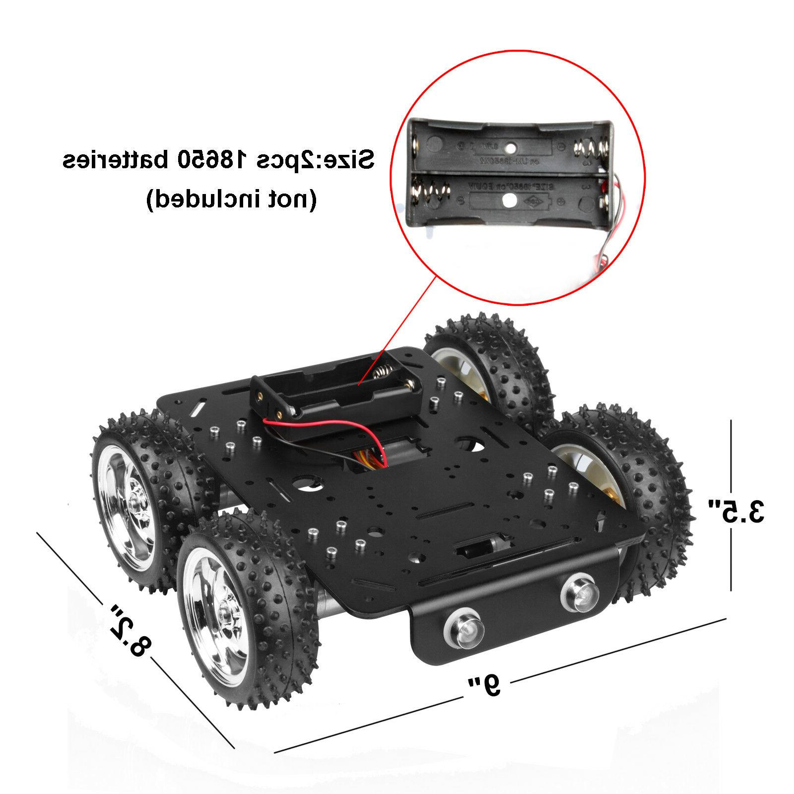 4WD Obstacles Robot Smart Car Chassis Kit for Pi DIY