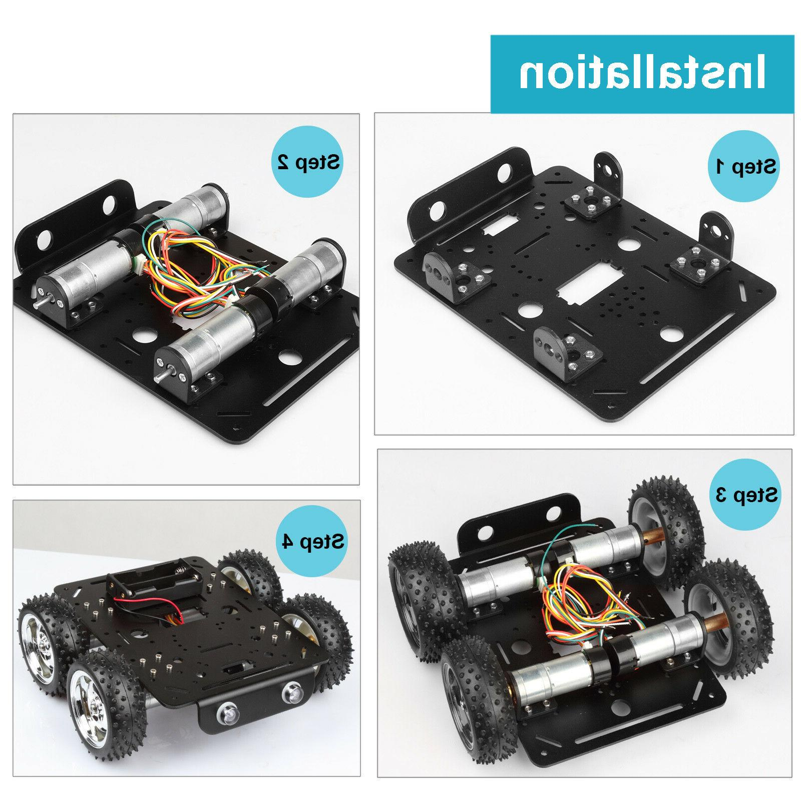 4WD Obstacles Smart Chassis for DIY