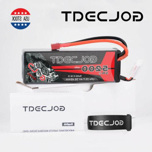 5200mAh 2S LiPo Battery Hardcase Deans T for Car Buggy
