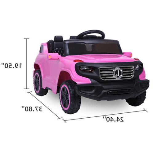 6V Kids On Car Remote Control to Years Old Pink