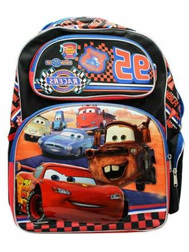 """Disney 95 Cars School Large 16"""" inches Backpack for Kids - L"""