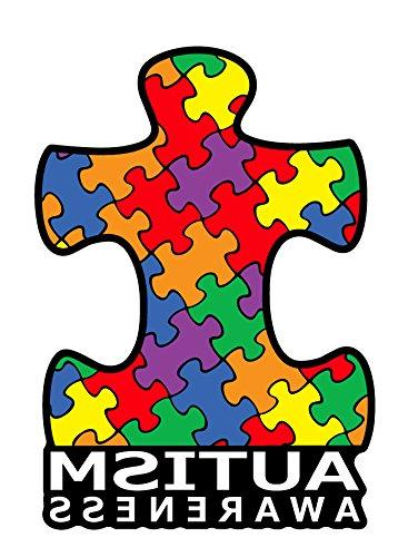 0fc919999c4 BOLDERGRAPHX 2042 Autism Awareness Puzzle Piece Car Decal Sticker | Premium  Quality Vinyl Sticker | 4 inch x 6 inch Decal