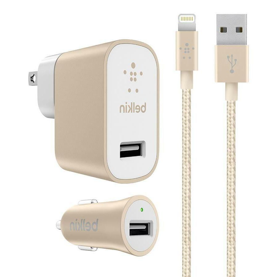 Belkin - MIXIT 4' Metallic Lightning cable for iPhone car /