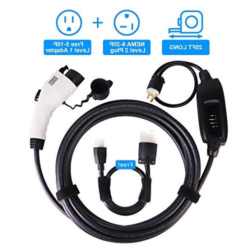 Bougerv Level 2 Ev Charger Cable Portable Evse Electric Veh