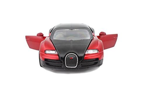 Bugatti Veyron 1:32 Diecast model collection light&sound Red color packaging ,Toys &
