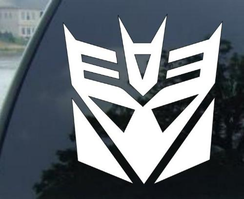 Decepticons Transformers Racing Decal Sticker