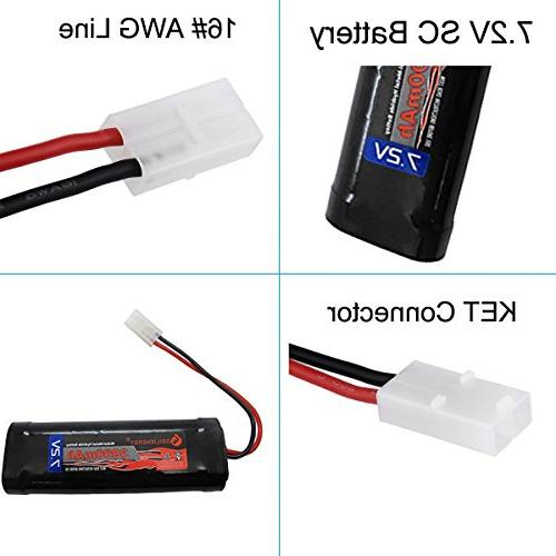 GEILIENERGY Power Rechargeable NiMH Battery Pack Low-self RC Trucks,Traxxas