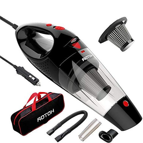 HOTOR Corded Car Vacuum, DC 12V Car Vacuum Cleaner High Powe