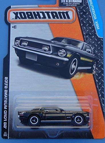 Matchbox, 2015 MBX Adventure City, '68 Ford Mustang GT/CS  1